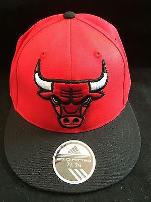 "NBA Chicago Bulls Adidas 7 1/4- 7 5/8 ""210"" Flex Fit Hat"