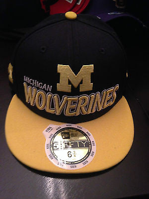 bf47dc364f7 NCAA University of Michigan Wolverines Youth 59Fifty Fitted Hat - Size 6 3 8