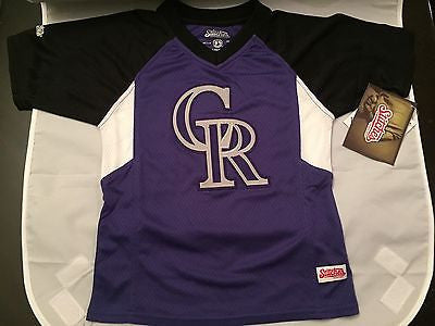 reputable site 85acf f0f18 MLB Colorado Rockies Youth Size 5/6 Stitches Jersey ...