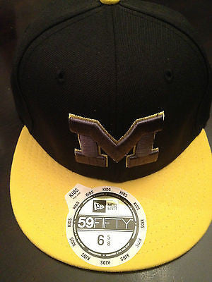 NCAA University of Michigan Wolverines Youth 59Fifty Fitted Hat - Size 6 5/8