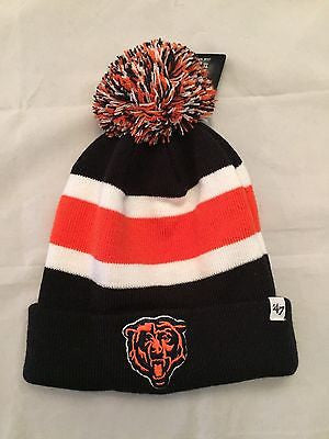 NFL Chicago Bears Adult Cuffed Winter Knit Hat with Pom