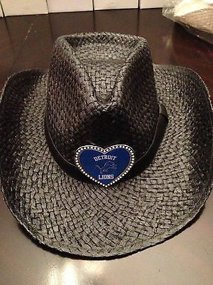 NFL Detroit Lions Black Cowgirl Hat