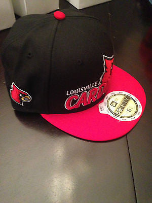 huge discount dfa04 4a4c0 NCAA Louisville Cardinals New Era 59Fifty Fitted Size 6 5 8 Youth Hat
