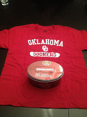 NCAA Oklahoma Sooners Youth Medium T-Shirt with Collector's Tin