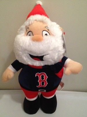 "MLB Boston Red Sox Plush 15"" Santa Claus"