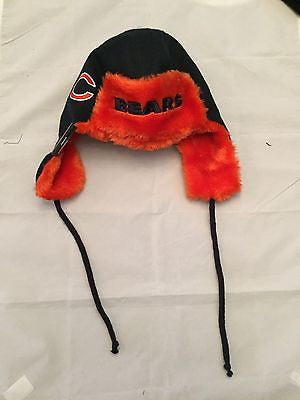 NFL Chicago Bears MensTrapskin w/ Strings Winter Hat
