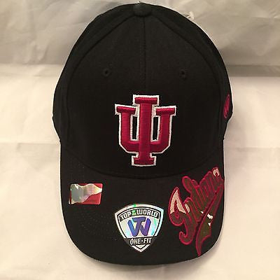 the best attitude 9b69d 4a6b1 NCAA Indiana Hoosiers Adult OSFA Top Of The World Flex Fit Hat