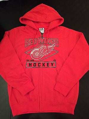 quality design c7564 352eb NHL Detroit Red Wings Men's Small Full Zip Hooded Sweatshirt
