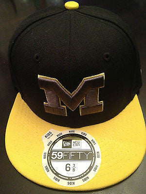 NCAA University of Michigan Wolverines Youth 59Fifty Fitted Hat - Size 6 3/8