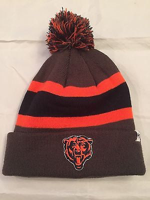 NFL Chicago Bears Adult '47 Brand Winter Hat with Pom