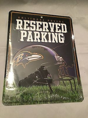 NFL Baltimore Ravens Reserved Parking Sign