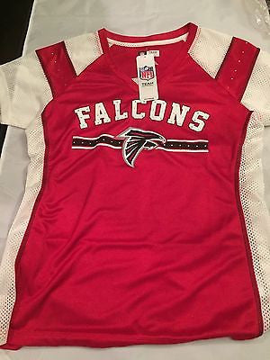 NFL Atlanta Falcons Women's Medium Pink Jersey w/ Rhinestones