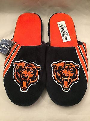 NFL Chicago Bears Adult Large Slippers by Forever Collectibles