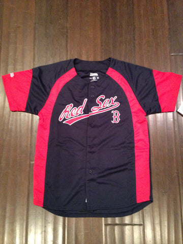 MLB Boston Red Sox Youth Button Up Jersey