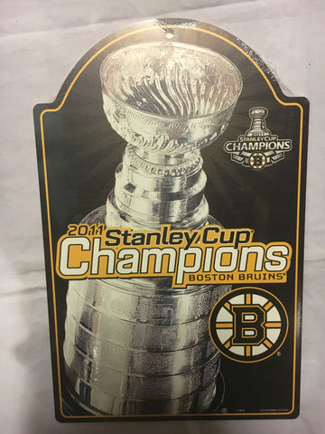 NHL Boston Bruins 2011 Stanley Cup Wooden Sign
