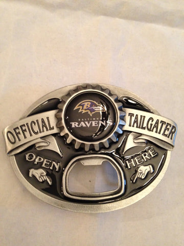 NFL Baltimore Ravens Belt Buckle with Bottle Opener
