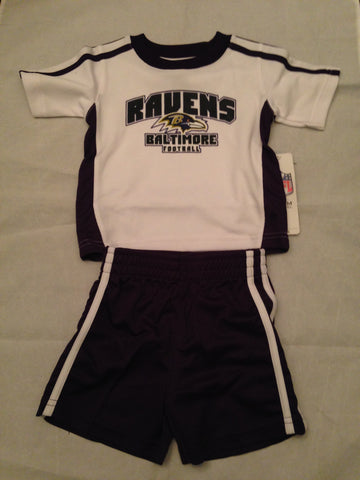 NFL Baltimore Ravens Kids 2-Piece Shorts & Jersey Tee Set