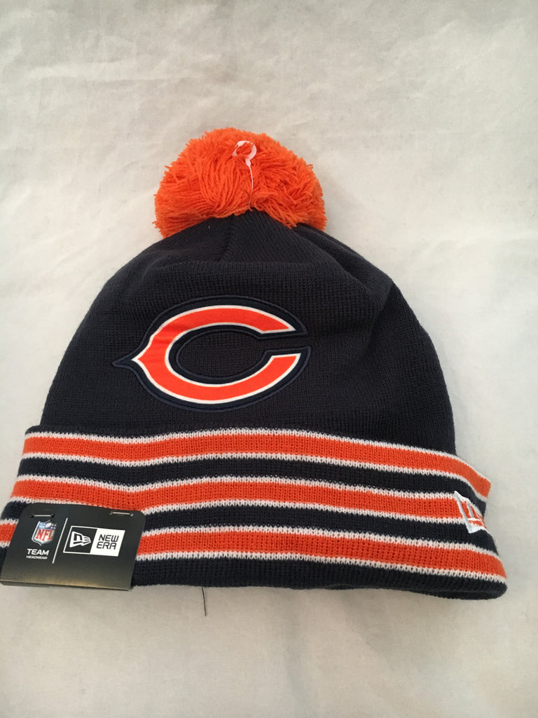 NFL Chicago Bears Cuffed Team Relation Winter Hat w/ Pom