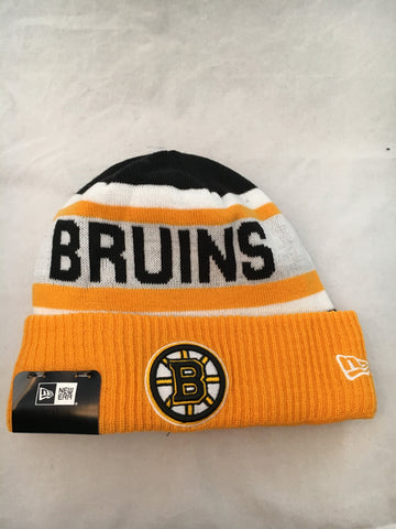 NHL Boston Bruins Biggest Plan Fleece Lined Winter Hat
