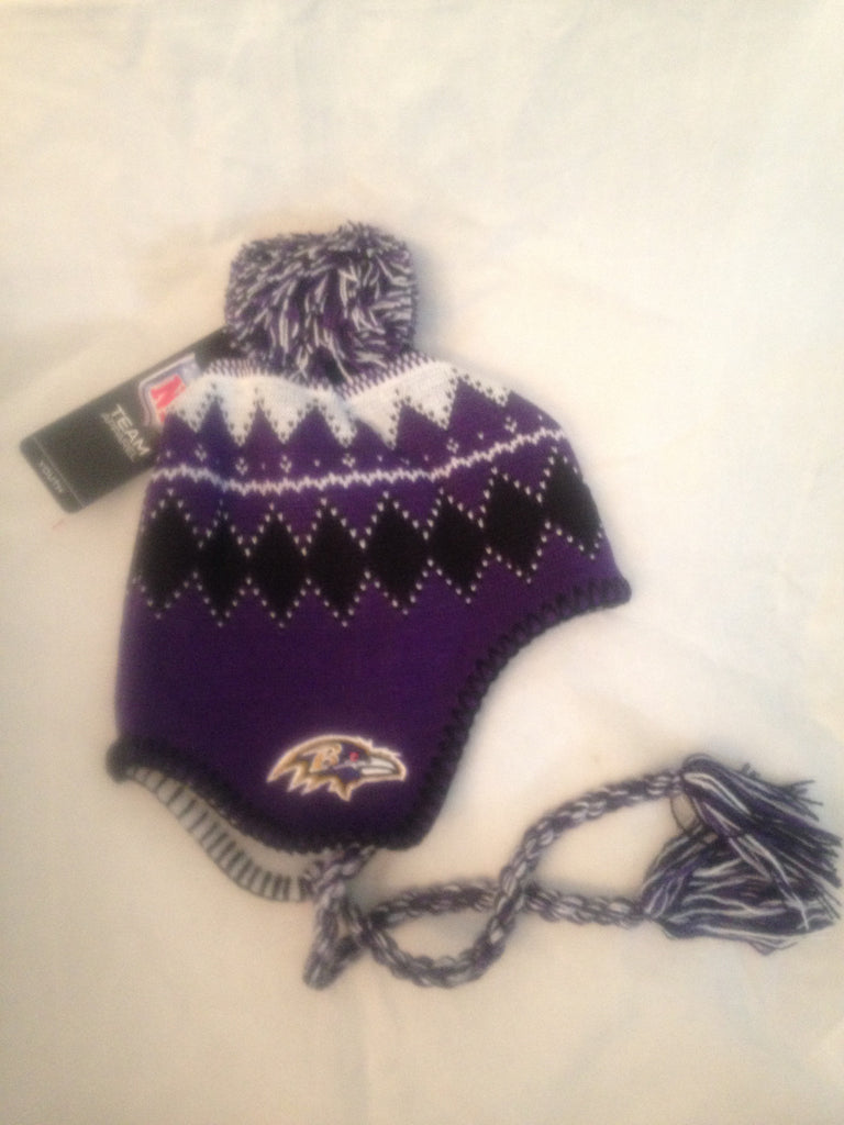 NFL Baltimore Ravens Youth Winter Knit Hat with Tassels