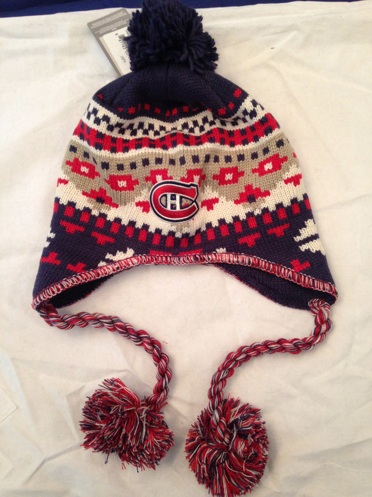 197be062247f93 NHL Montreal Canadiens Women's Knit Winter Hat with Tassles ...