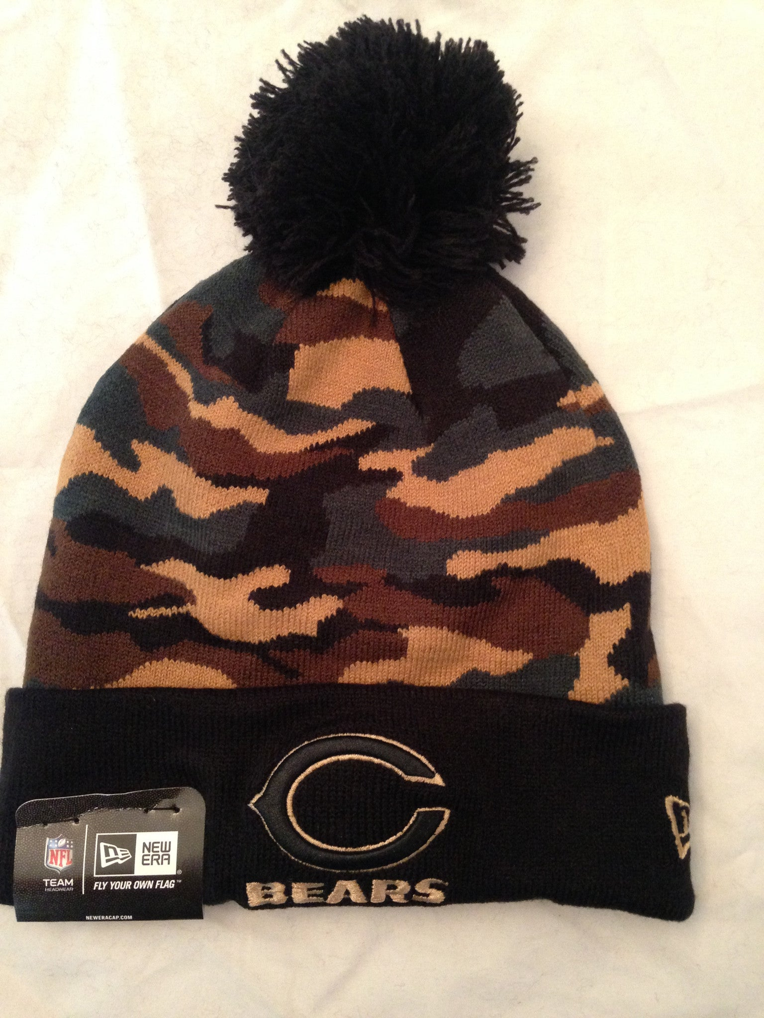 NFL Chicago Bears Camo Winter Knit Hat with Pom – MancavesOnline 300191e4834