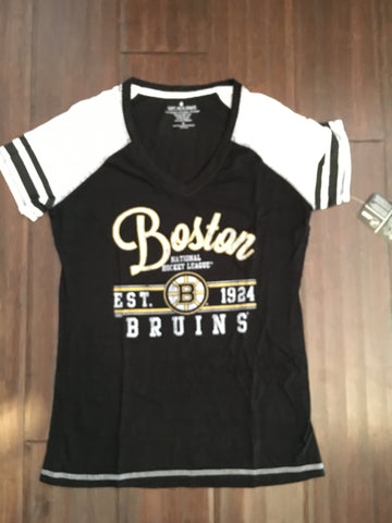 NHL Boston Bruins Crewneck Baseball Tee