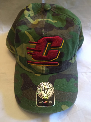 NCAA Central Michigan University Women's Camo Fashion Clean Up Hat