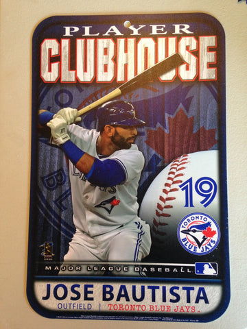 42d8ab992f9c8e MLB Toronto Blue Jays Jose Bautista Clubhouse Sign by Wincraft Sports