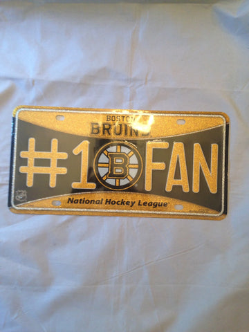NHL Boston Bruins #1 Fan License Plate