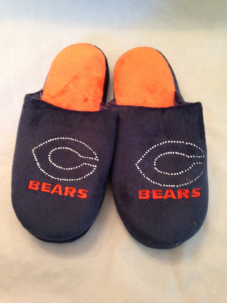 NFL Chicago Bears Jeweled Slippers