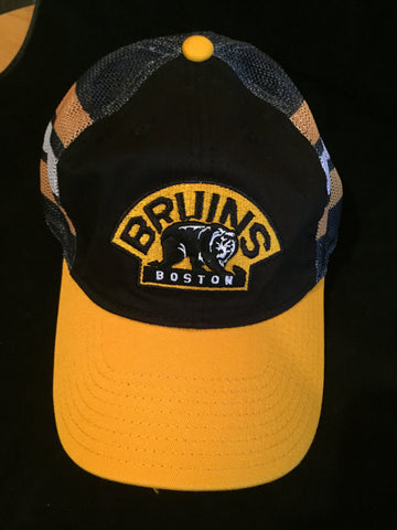 NHL Boston Bruins Jersey Hook Mesh Flex Fit Hat