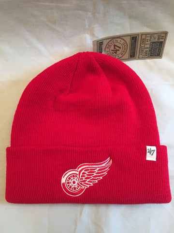 3647d119fe4 NHL Detroit Red Wings Cuffed Red  47 Brand Winter Hat with Logo