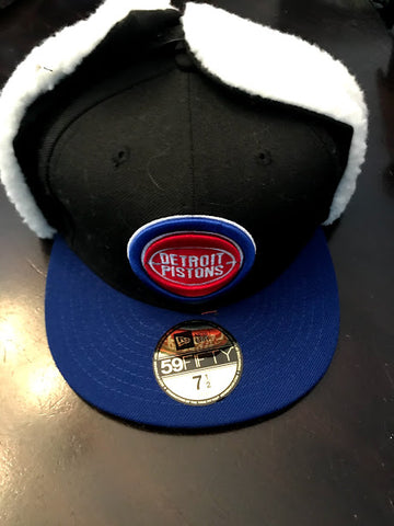 NBA Detroit Pistons Fitted Sherpa Dog Ear Hat