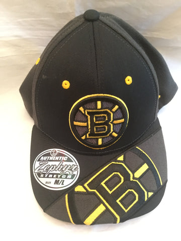 "NHL Boston Bruins ""Dark Ice"" Med/Lg Stretch Fit Hat"