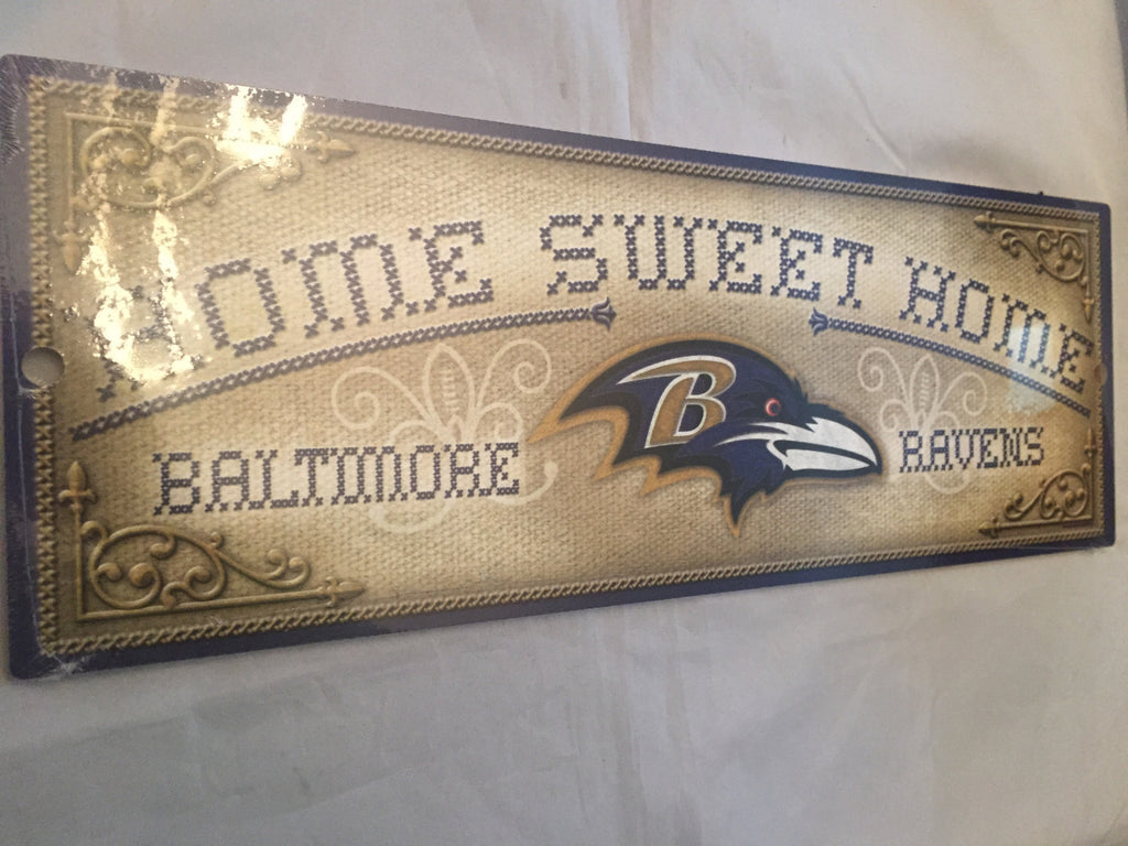 "NFL Baltimore Ravens ""Home Sweet Home"" Wooden Sign"