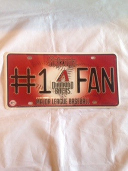 MLB Arizona Diamondbacks #1 Fan License Plate