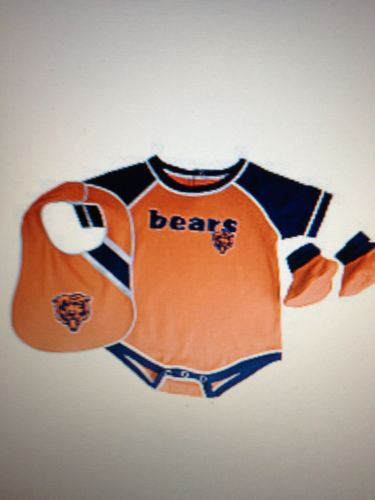 NFL Chicago Bears Infant Bib, Booties & Outfit Set