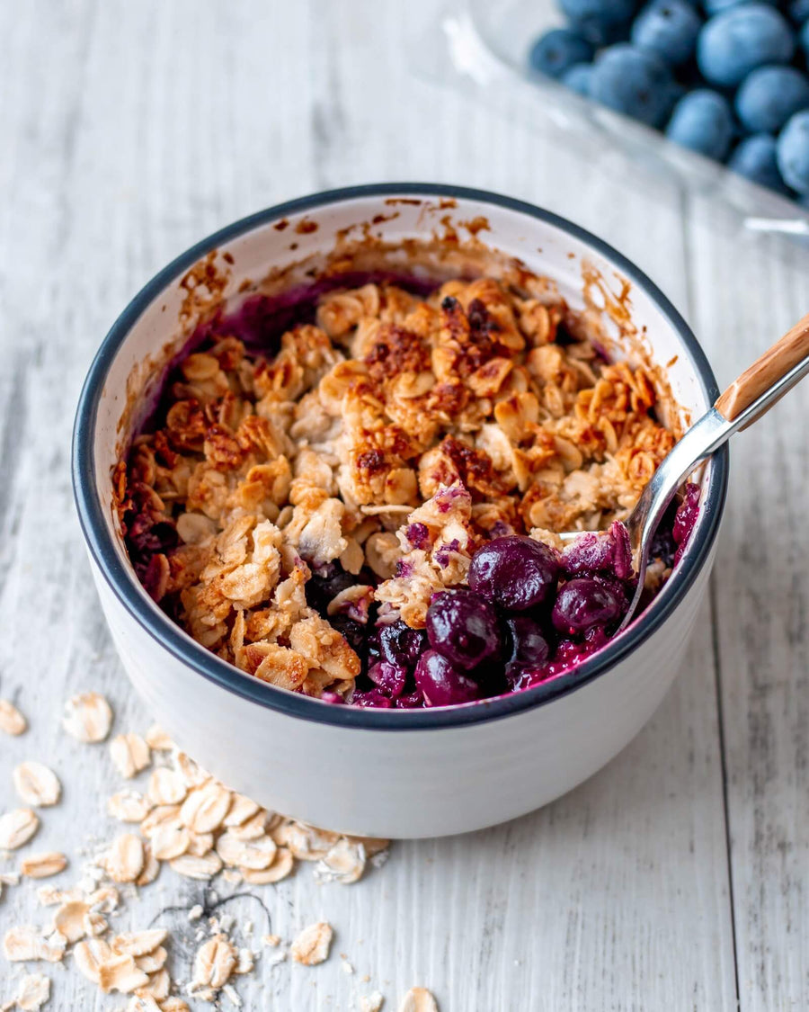 Single Serve Blueberry Crisp