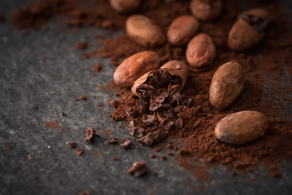 powdered cacao beans