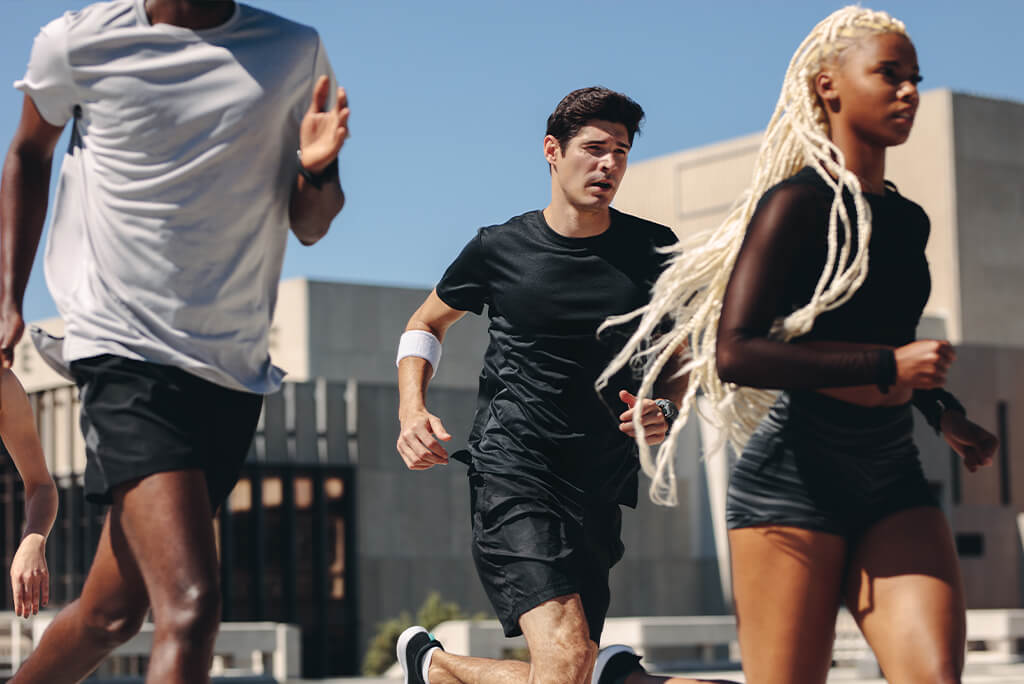 group of people running for exercise