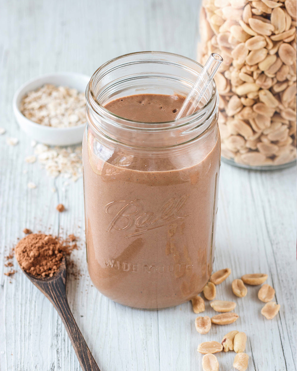 Choc PB Oatmeal Protein Smoothie