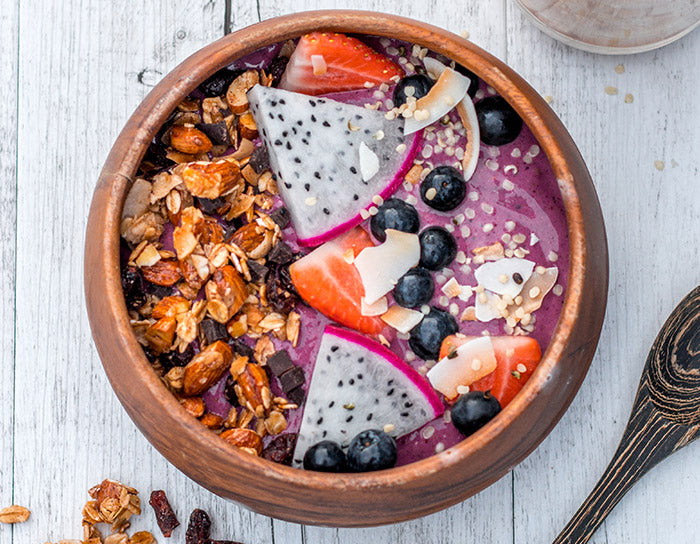 Mixed Berry Vanilla Protein Smoothie Bowl