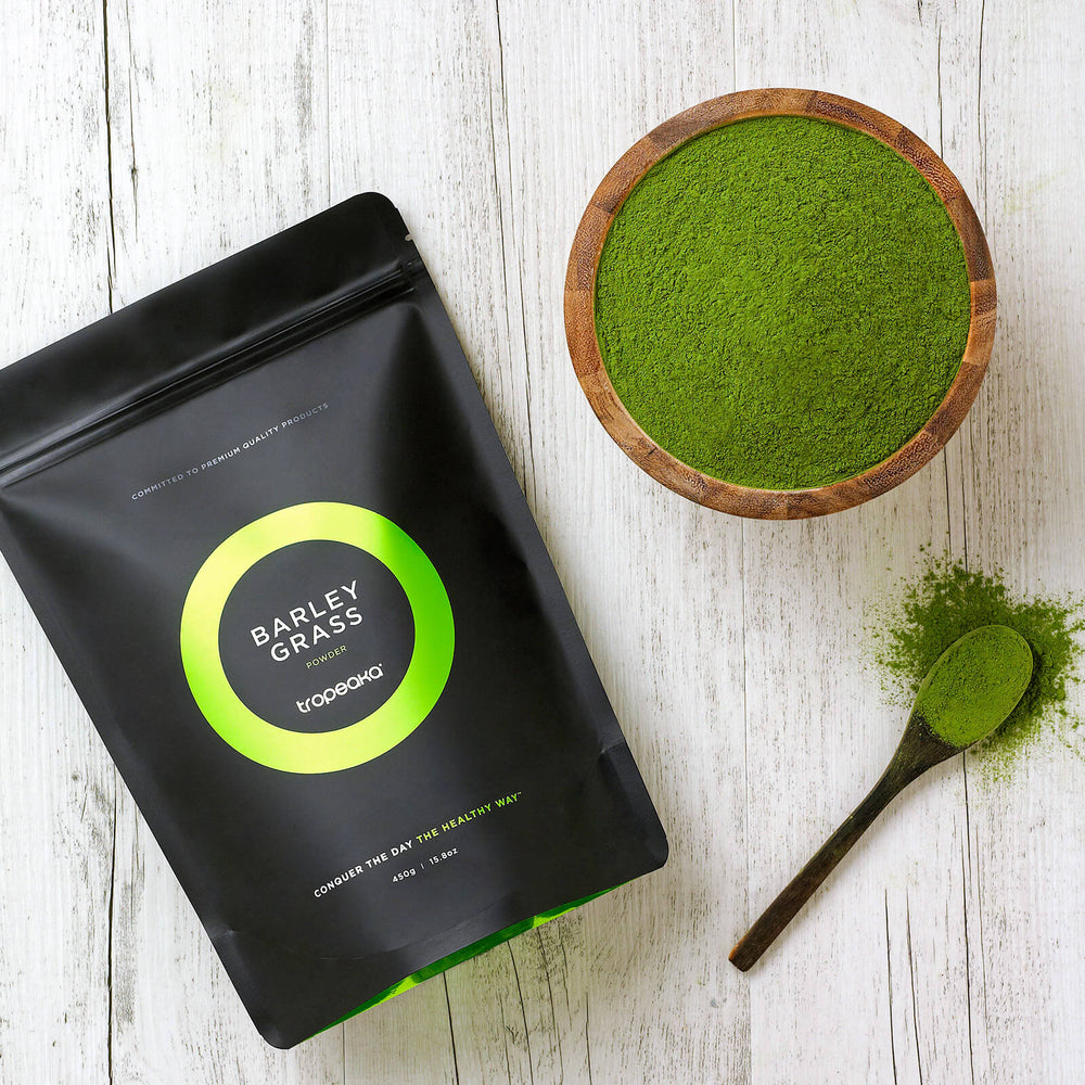 Tropeaka Barley Grass Powder For Organic Cleansing And Immunity