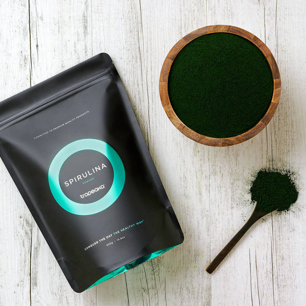 Tropeaka Spirulina Powder is a complete nutrient-dense superfood