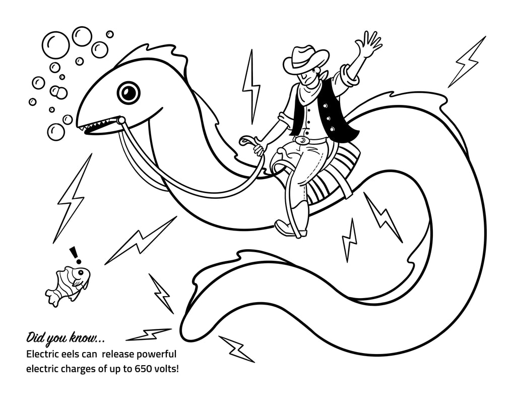 Electric Eel Coloring Page Activity