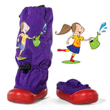 MM - Purple Garden Girl - Lightweight Rain/Outdoor Boots (Infant & Toddler)