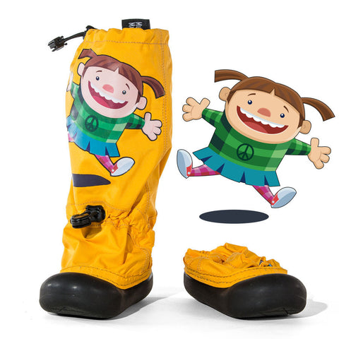 MM - Yellow Jump Girl - Lightweight Outdoor Boots (Infant & Toddler)