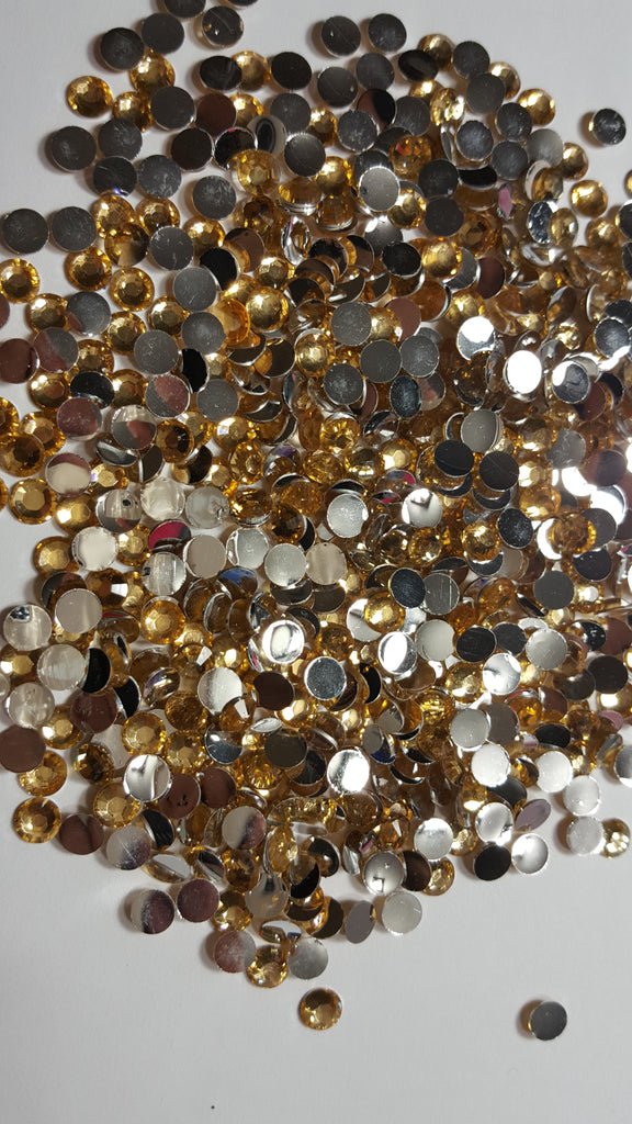 Champagne Rhinestones 2mm - 5mm You pick Size