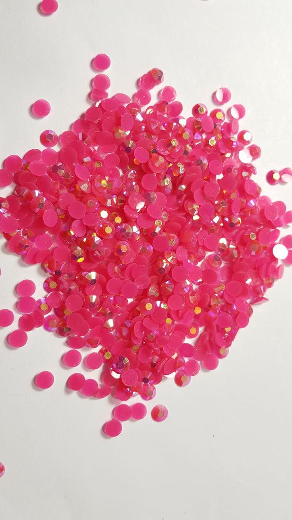 Dark Pink Ab Rhinestones - Jellies 2mm - 5mm You pick Size